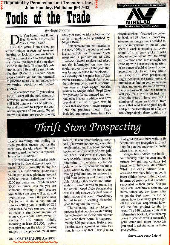 Page 1 of Sabisch's Review, July 2003