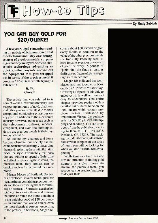 Page 1 of Sabisch's Review, June 1995